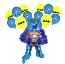 BATMAN Large Shape plus 12 Latex Balloons Superhero Birthday Party Decoration