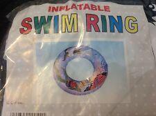Inflatable Swim Ring Pool Toy Swimming Fun Fish Sea Life 20 inch NIP