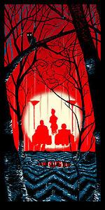 "TWIN PEAKS ""IN THE TREES"" silkscreen print by Tim Doyle Nakatomi Artist"