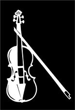 Violin Fiddle Vinyl Decal strings instrument music band car window sticker