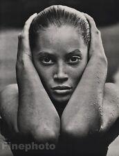 1988 Vintage 16x20 CHRISTY TURLINGTON Female Fashion Model Photo Art HERB RITTS