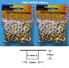 400pc 7mm OD Rolson eyelets leather crafts gold colour  2 x 200pcs curtains
