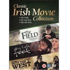 The Field - My Left Foot - Into the West   NEW TRIPLE DVD IRISH MOVIE BOX SET
