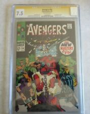 Avengers #54 CGC 7.5 Signed by Stan Lee 1st appearance of New Masters of Evil