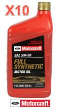 10 Quarts Motor Oil OEM FORD MOTORCRAFT Fully Synthetic SAE 5W50