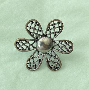 Ring Blume Modeschmuck Silber