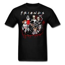 Horror Friends Pennywise Michael Myers Jason Halloween T-Shirt Size S-6XL