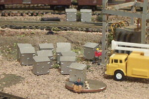12 UTILITY BOXES N Scale Details