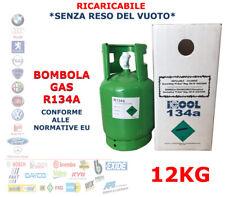 BOMBOLA RICARICABILE GAS R134A ARIA CONDIZIONATA AUTO CONFORME SENZA RESO 12KG