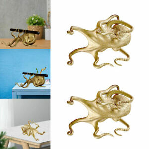 2Pieces Octopus Mobile Phone Holder Style Carving Tablet for Tablet Desktop