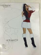 Underwraps Secret Santa Costume Women's Small NWOT Dress Belt Hood