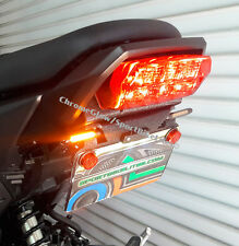 Honda Grom MSX125 (2017+) SS Fender Eliminator w/ Amber LED Turn Signals; Smoke