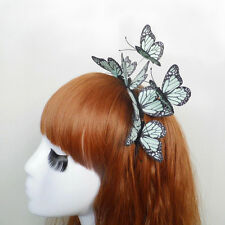 BUTTERFLY Headband Fascinator Hair Accessory Party Costume Racing Blue Crown