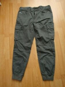 NWT Polo Ralph Lauren Mens Gray Straight Fit Jogger Pants Military Cargo 34/32
