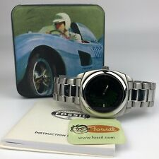 FOSSIL SPEEDWAY VINTAGE GREEN  ROAD RACING MENS WATCH CASE 38mm JR8090