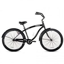 "Men's 29"" Black Cruiser Bike Bicycle Genesis Onex Aluminum Frame Fat Tire"