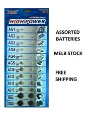 Assorted 24 Pieces Coin Cell Battery FREE SHIPPING MELB AU