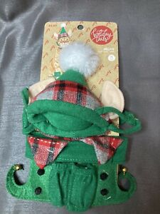 Cat Elf Costume Set Collar, Hat, Shoes Halloween Christmas Pet