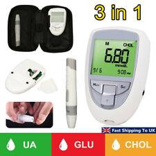 3 in 1 Cholesterol Blood Glucose Meter Diabetic Testing Monitor Glucometer Test