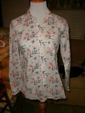 Old Navy Nautical Printed Button Front Shirt Blouse S