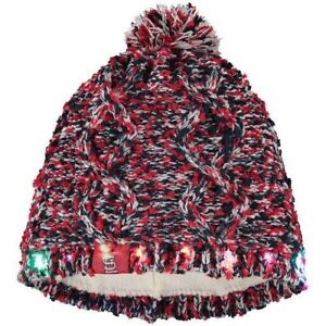 St Louis Cardinals Chunky Knit Light Up Logo Beanie Winter Hat Toque Pom Women's