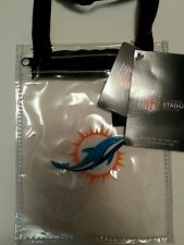 Little Earth Game Day Pouch Clear Miami Dolphins