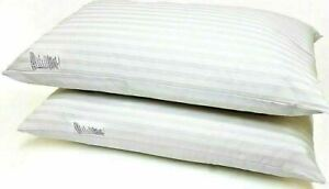 Hollowfibre Hotel Egyptian Stripe Bed Pillows Soft Quality Pack of 2x 4x 6x 8x