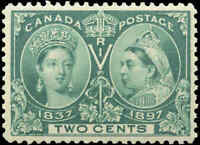 1897 Mint NH Canada F-VF Scott #52 2c Diamond Jubilee Issue Stamp