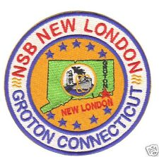 US NAVY BASE PATCH, NAVY SUBMARINE BASE, NEW LONDON, GROTON CONNECTICUT        Y