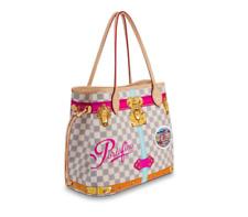 !! PORTOFINO Louis Vuitton Pink DAMIER AZUR Summer Trunks Neverfull Bag Tote NEW