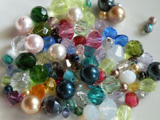 100 pc lot Swarovski Crystals & Pearls & Czech Fire Polished Beads 4mm 6mm 8mm