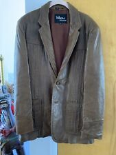 wilson house of suede and leather men's brown button lined jacket, Pockets Vtg.