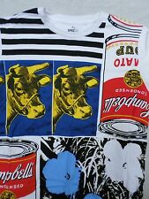 ANDY WARHOL Uniqlo cows flowers Campbell soup can excellent mint t-shirt XL
