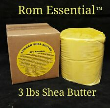 African Shea Butter 100% Pure & Natural Organic Yellow 3 lbs