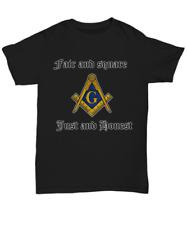 Masonic motto shirt - Fair and square just and honest - Freemason logo apparel