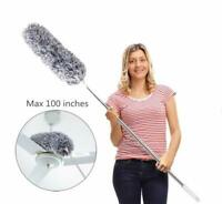Microfiber Duster with Extension Pole Extra Long 100 inch Washable Bendable Head