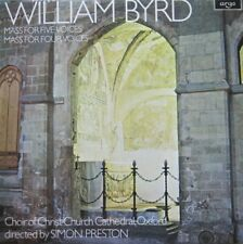 CHOIR OF CHRIST CHURCH CATHEDRAL,  OXFORD - SIMON PRESTON - WILLIAM BYRD  -  LP