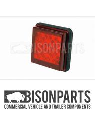 *UNIVERSAL LED 24 VOLT REAR FOG LAMP (111X111MM) FITS RH OR LH BP90-312