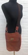 Vintage Mulberry Messenger Bag Tan Brown Leather Satchel