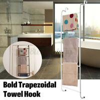 4 Tier Over the Door Hook Towel Bar Space Saver Storage Shelf Rack Organizer