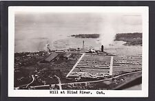 Circa 1915 - 1930 Real Photo RPPC Postcard Mill at BLIND RIVER Ontario Canada