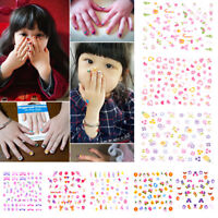 5Sheets Cartoon Kids Safety Nail Stickers DIY Makeup Nail Art Christmas Gift PIC