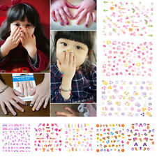 5Sheets Cartoon Kids Safety Nail Stickers DIY Makeup Nail Art Christmas Gift XC