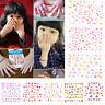 5Sheets Cartoon Kids Safety Nail Stickers DIY Makeup Nail Art Christmas Gift BK