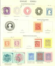 CHILE 23 x PS -POSTAL STATIONERY - CUT OUT / SQUARE --F/VF