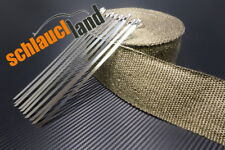 20m Titan Hitzeschutzband 75mm 1400°C  + 10 Kabelbinder *** Heat Wrap cable tie