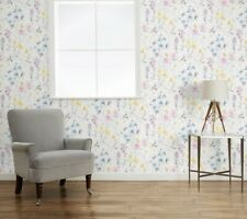 Laura Ashley Wild Meadow Multi Wallpaper. Batch Number May Vary