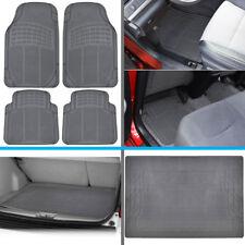 All Weather Auto Car Floor Mats & Rear Trunk Liner fits Nissan Sentra - Gray