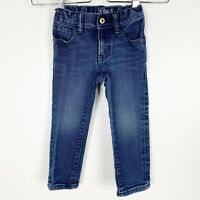Baby Gap Toddler Boys Blue Soft Stretch Denim Jeans Skinny Fit Size 2T