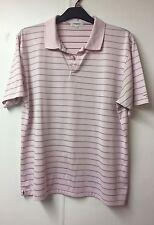 Calvin Klein ORO Maglietta Polo a righe rosa taglia L